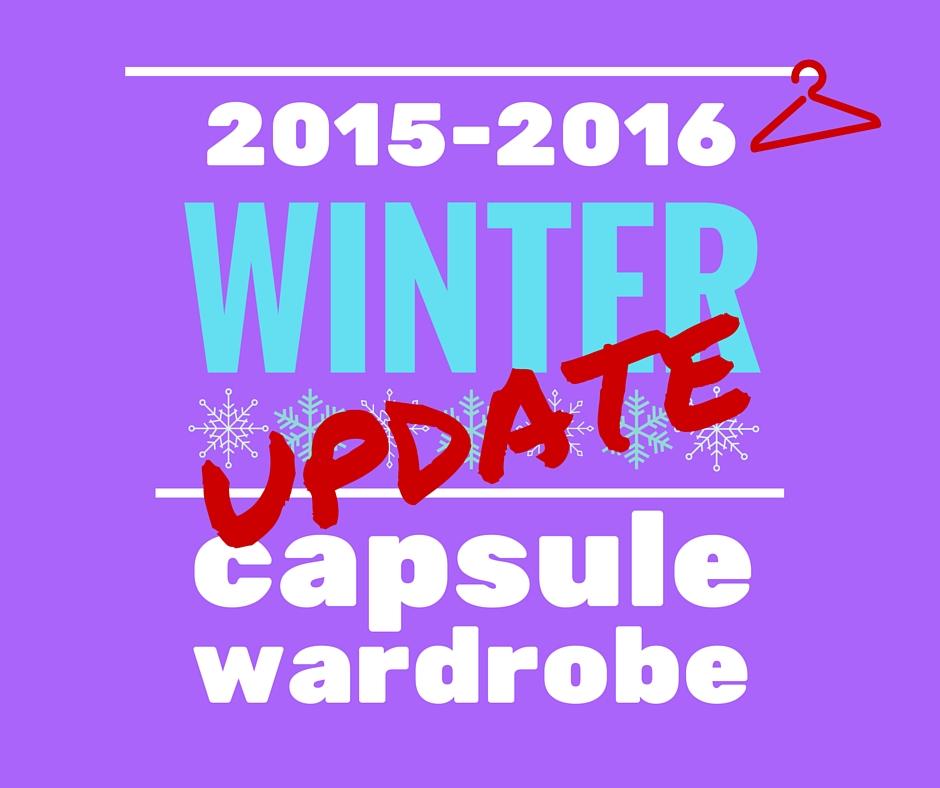 Winter capsule wardrobe -update